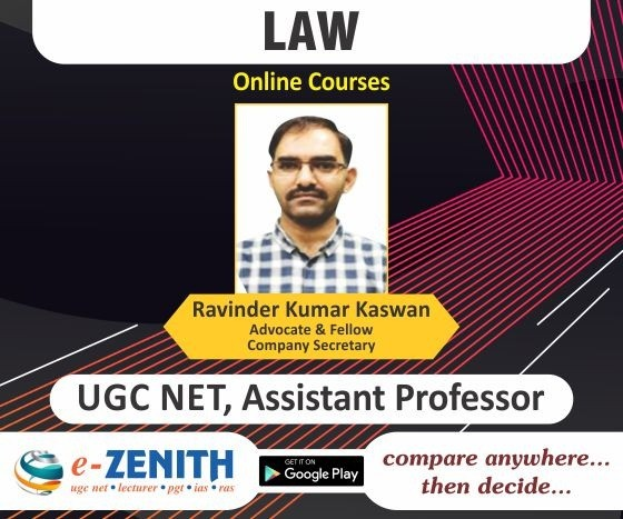 UGC NET, COLLEGE LECTURER LAW ONLINE COURSE