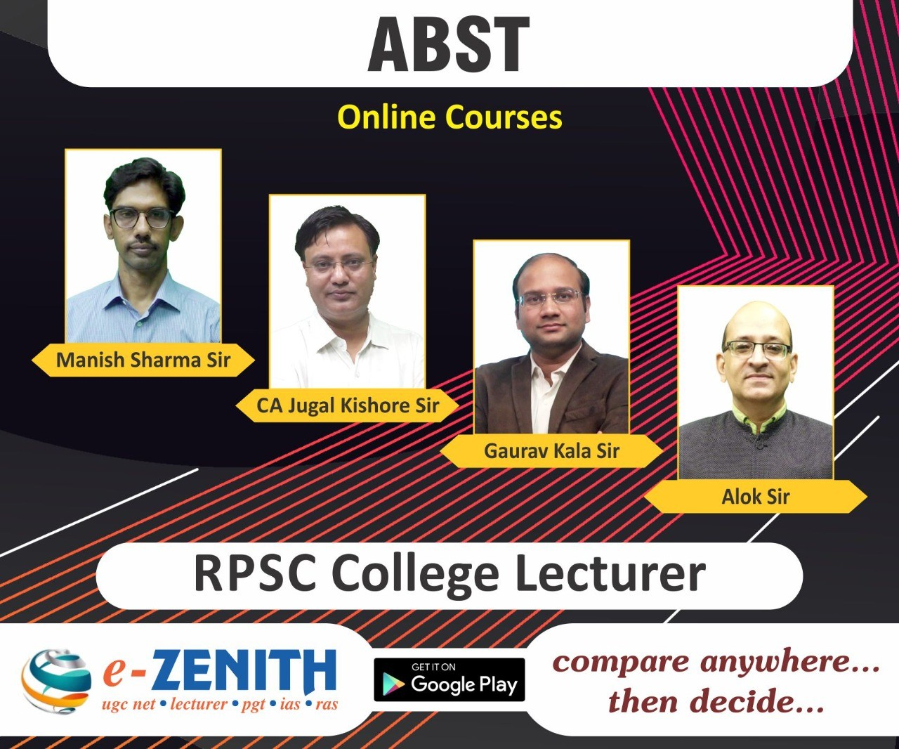 RPSC COLLEGE LECTURER ABST ONLINE COURSE
