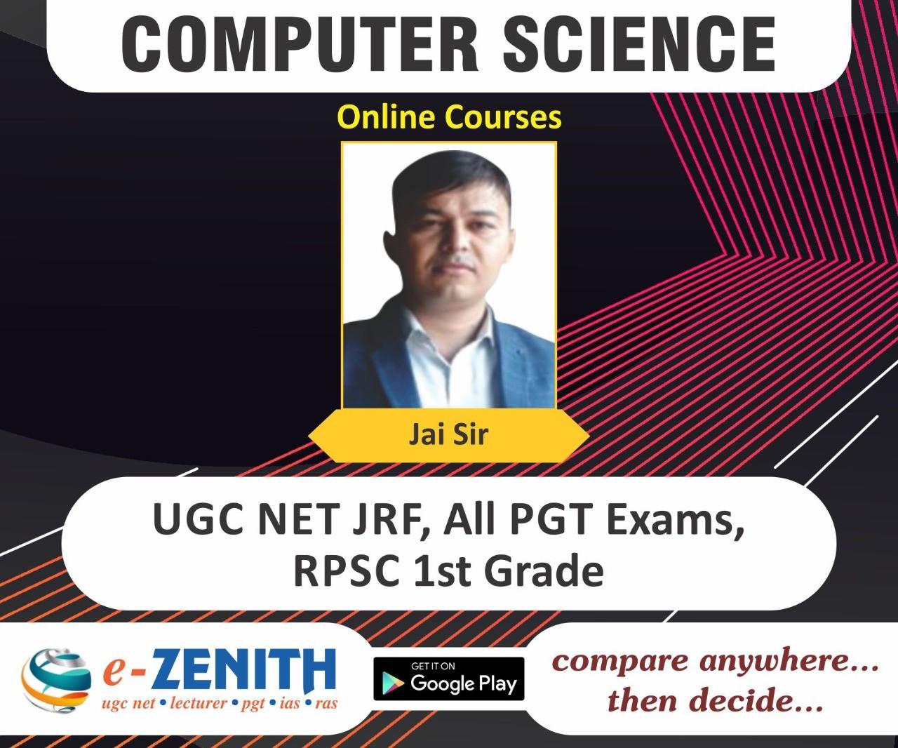 UGC NET, RPSC 1st GRADE COMPUTER SCIENCE ONLINE COURSE